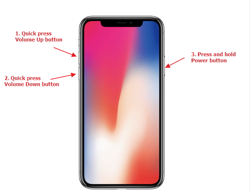forzar el reinicio del iPhone X