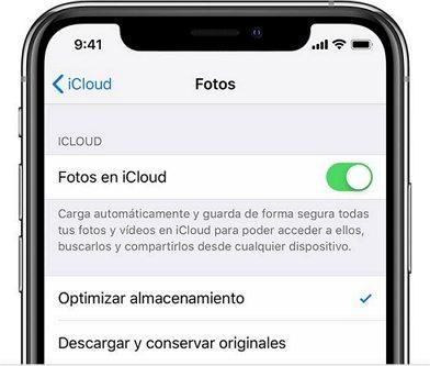 Reiniciar la biblioteca de fotos de iCloud