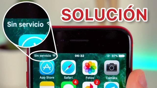 iPhone sin servicio