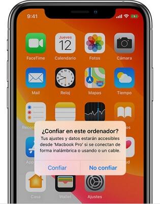 iPhone confía en tu ordenador