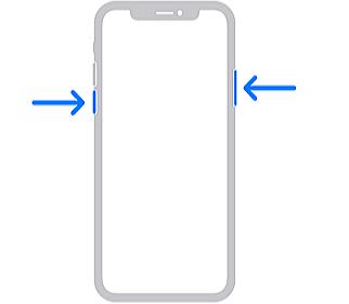 forzar el reinicio de iphone x