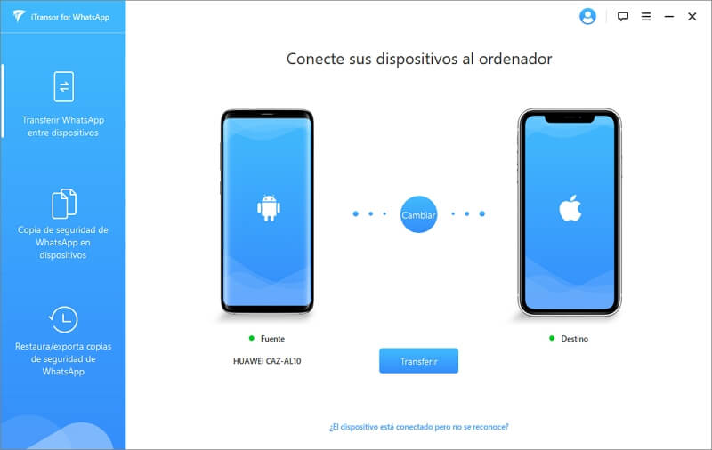 seleccionar Transferir WhatsApp entre dispositivos