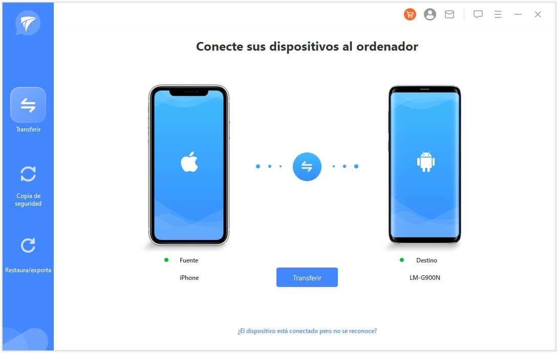 elegir el modo de transferir whatsapp entre dispositivo