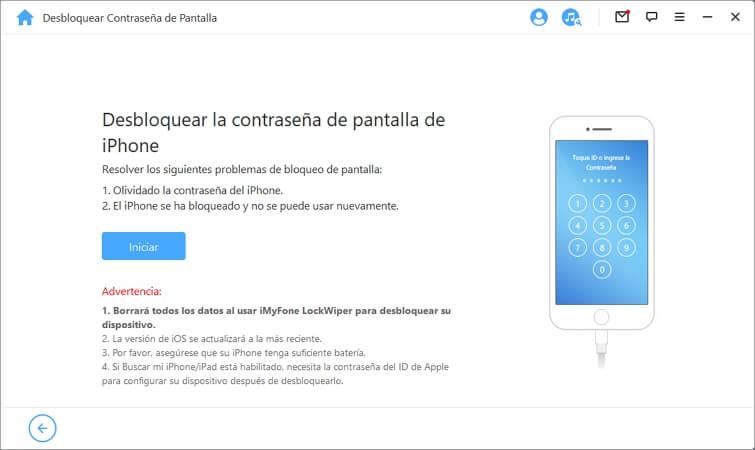 desbloquear iphone con iMyFone LockWiper