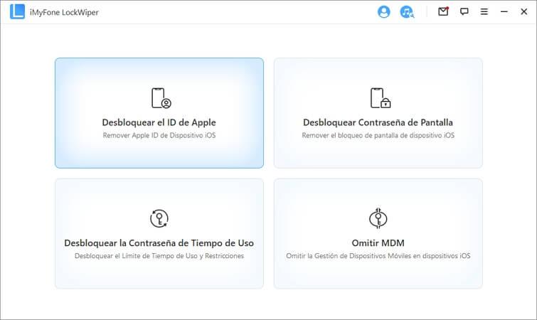desbloquear la cuenta de iCloud con iMyFone LockWiper