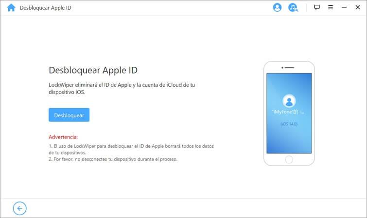pasos para desploquear iCloud iMyFone LockWiper