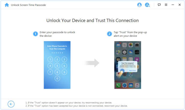 desbloquear el despositivo y confiar el ordenador