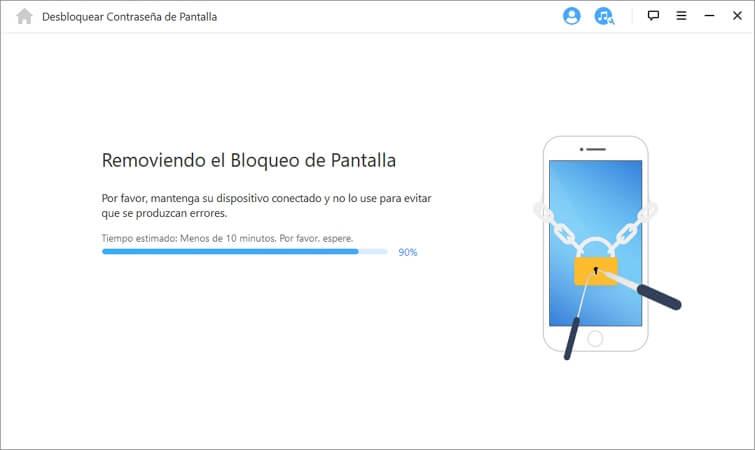 remover el desbloqueo de la pantalla