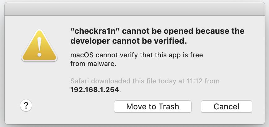 desarrollador no puede ser verificado