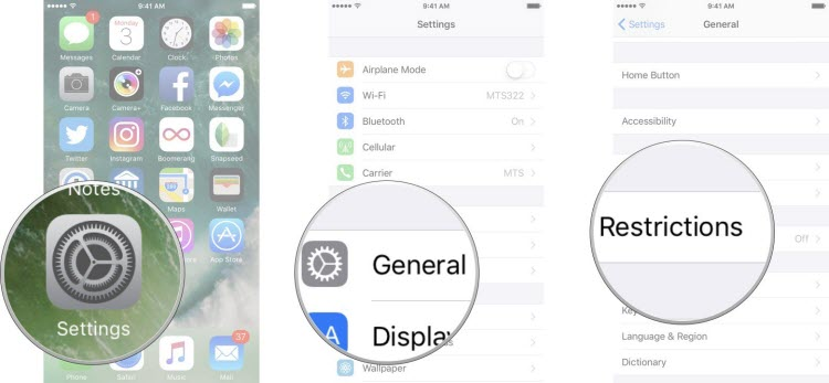 Desactivar restricciones en iPhone