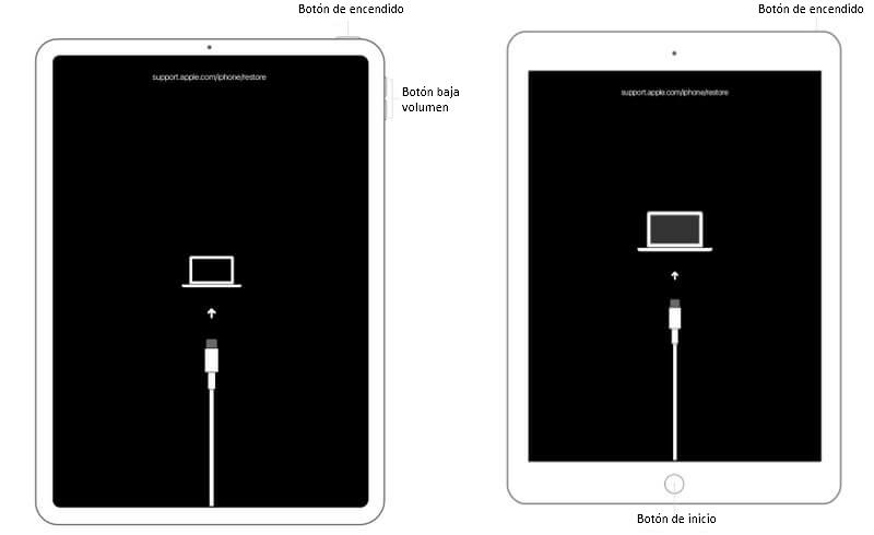 poner tu iPad en modo de recuperación
