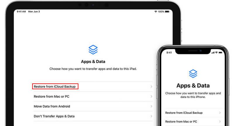 Restaurar desde la copia de seguridad de iCloud