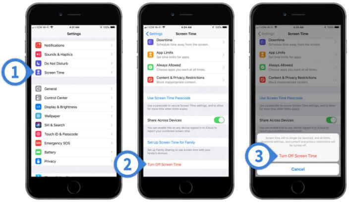 Desactivar tiempo de uso en iPhone