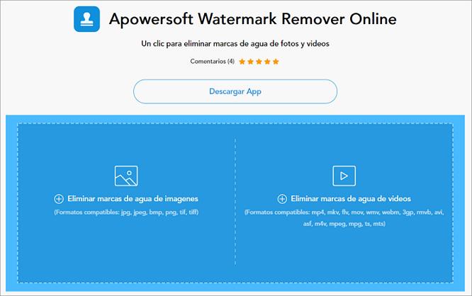 arrastrar videos para quitar marca de agua con Apowersoft