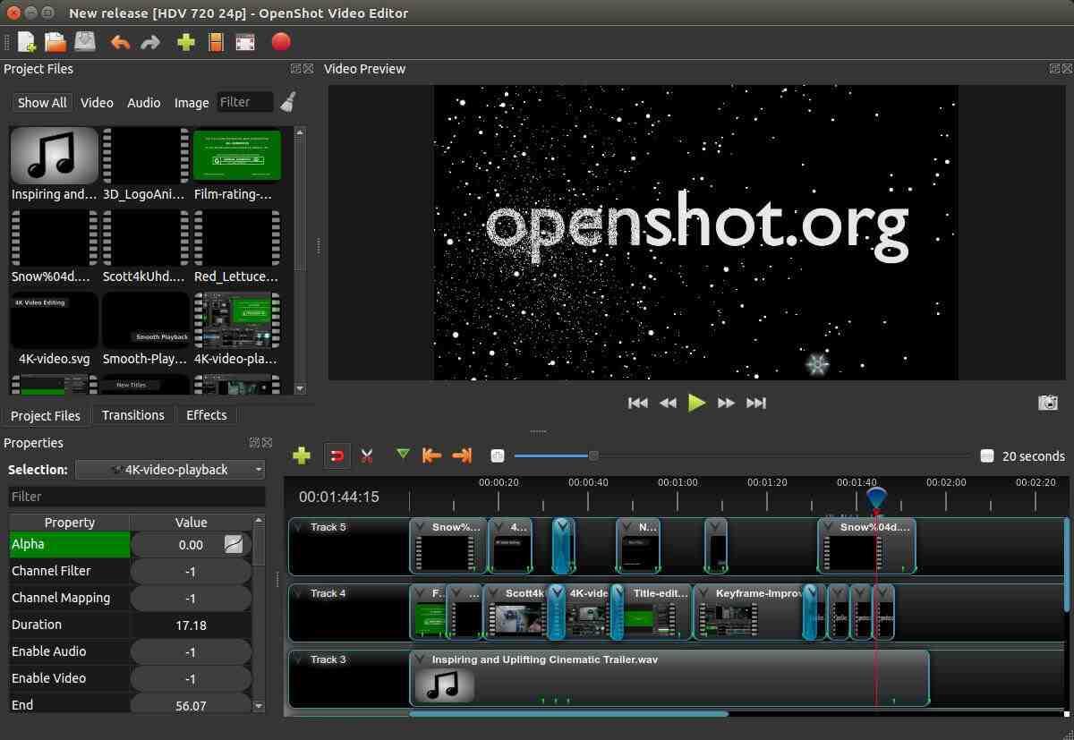 OpenShot editor de videos