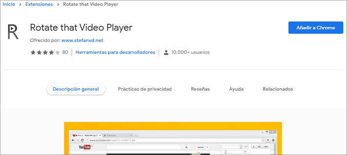 editor de video online rotate that video player