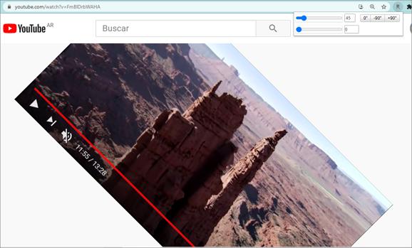 girar el video de youtube con rotate that video player