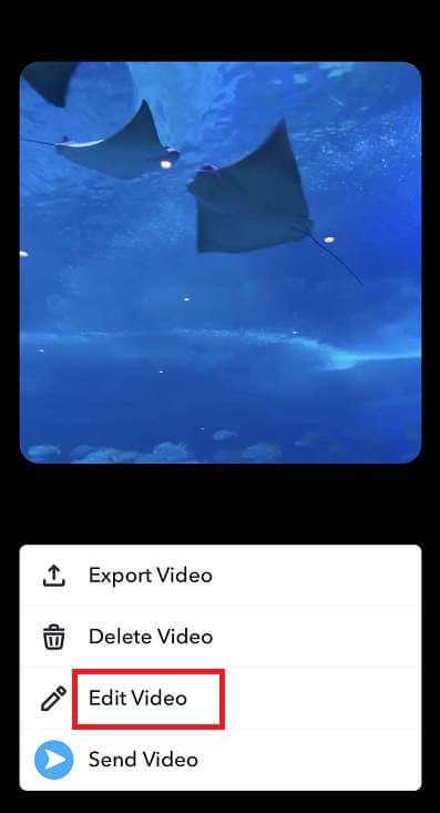 cortar un video en Snapchat