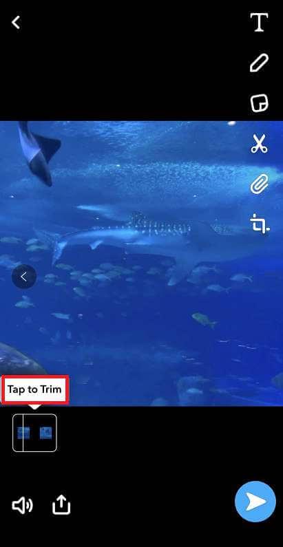 recortar video en Snapchat