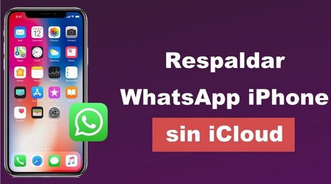 respaldar whatsapp iphone sin icloud
