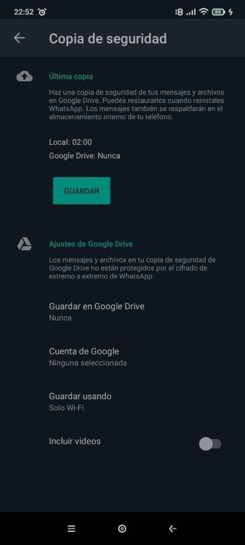 Hacer copia de seguridad de WhatsApp a través de una tarjeta SD