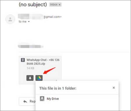 descargar archivo adjunto de email a google drive