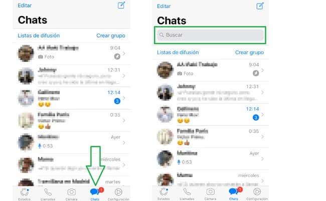 Localizar mensajes de WhatsApp en iPhone en todos los chats