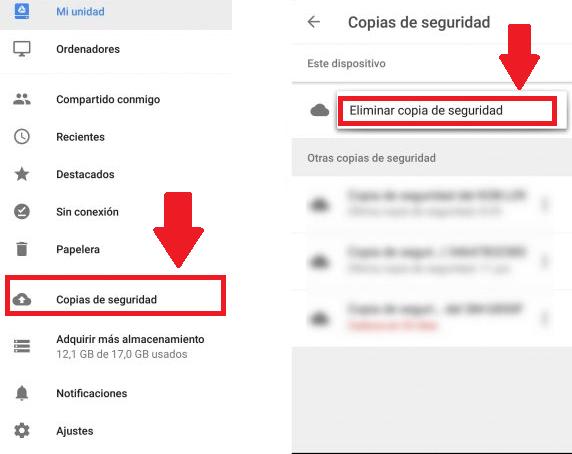 Eliminar los Respaldos de Chat de Google Drive