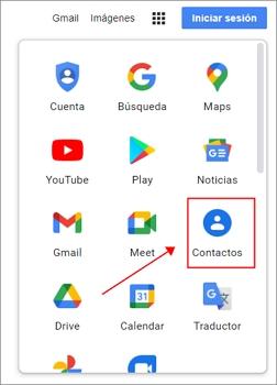 importa los contactos a Gmail