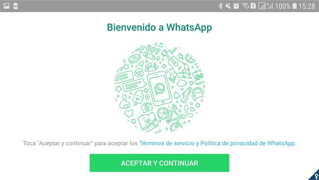 Volver a iniciar sesión en la cuenta de WhatsApp