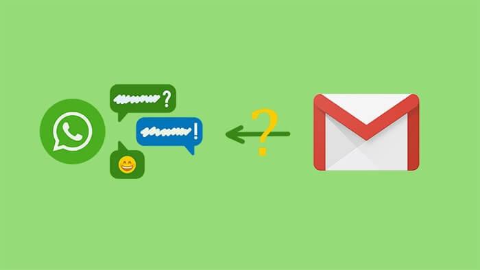 restaurar chats de whatsapp de respaldo de email