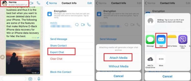 enviar WhatsApp por email