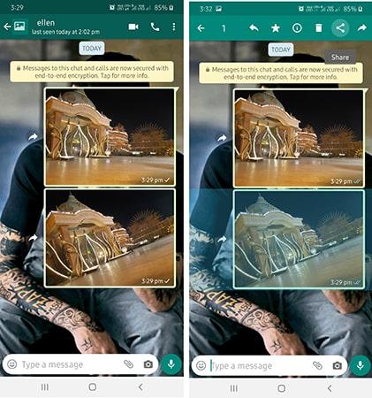 compartir fotos a email en Android