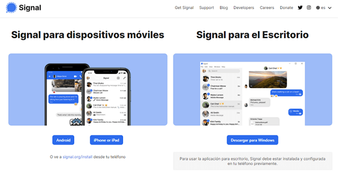 Signal: mejores alternativa a WhatsApp
