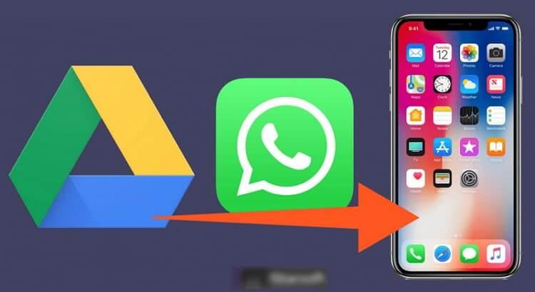 como pasar una copia de seguridad de whatsapp de google drive a icloud