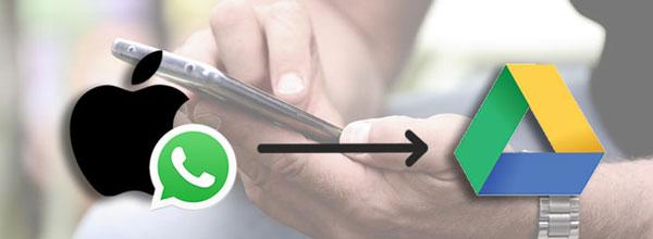 transferir whatsapp de iphone a google drive