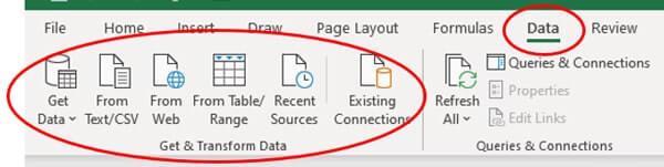 transformar datos de texto en Excel