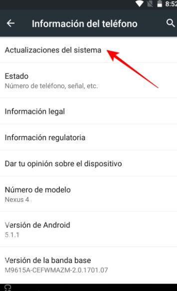 Actualiza El Sistema Android