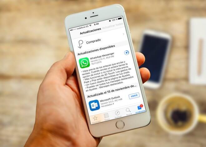 Actualiza whatsapp en iPhone