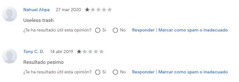más reseña de usuarios