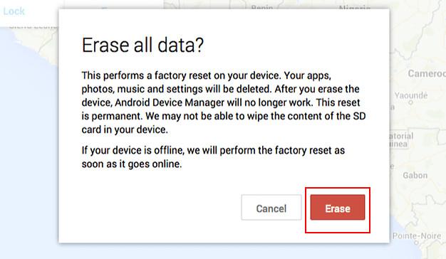 ADMを使用してAndroidスマートフォンのすべてのデータを消去します
