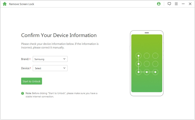 Confirm Android device information