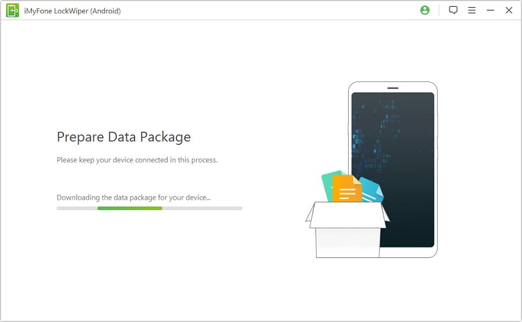 Download data package to your Android phone