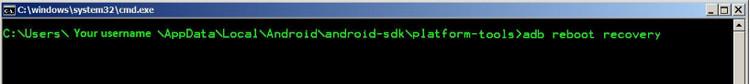 WindowsコマンドでADBフォルダーに移動