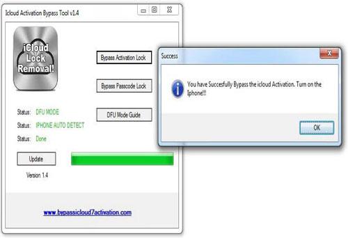 iCloudアクティベーションバイパスツール