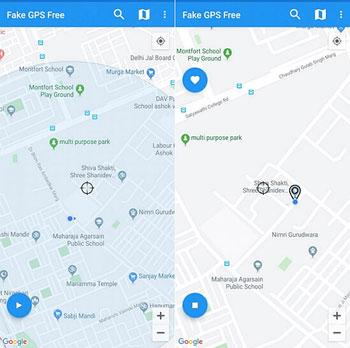 Fake GPS Freeで位置偽装