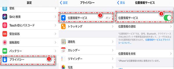 iPhone 位置情報サービス