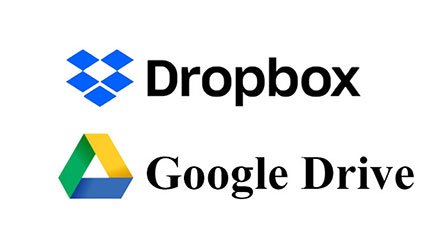 DropBoxとGoogleドライブのアイコン