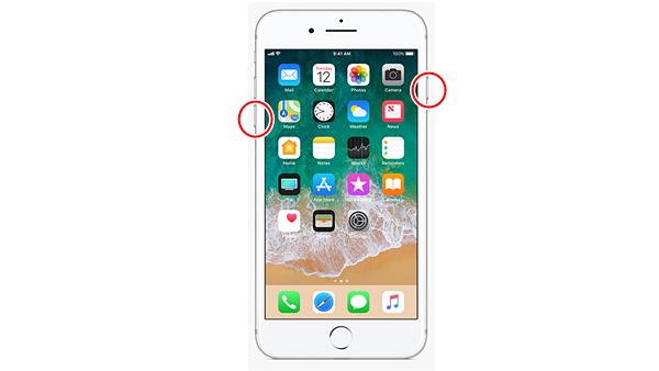 iPhone 7 強制再起動