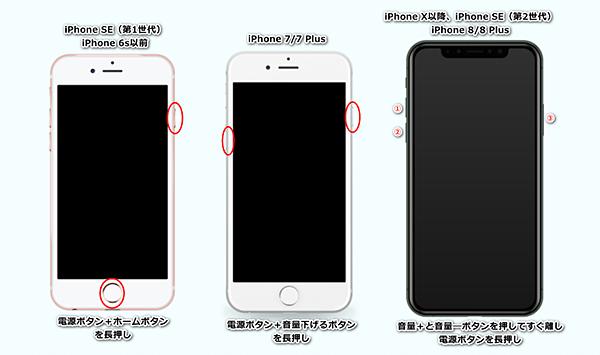 iPhoneを強制再起動
